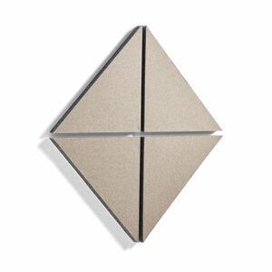 Akustický panel Pattern, trojúhelník, 600x600x40 mm, béžový, bal. 4 ks