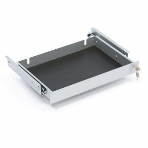Uzamykatelná zásuvka na notebook, 490x305x60 mm, šedá