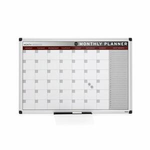 Magnetická plánovací tabule, 900x600 mm, měsíční