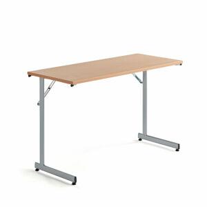 Skládací stůl Claire, 1200x500 mm, buk, hliníkově šedá