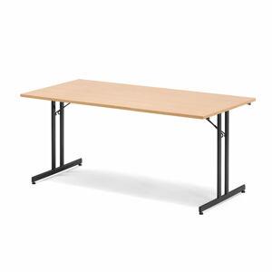Skládací stůl Emily, 1800x800 mm, buk, černá