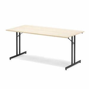 Skládací stůl Emily, 1800x800 mm, bříza, černá