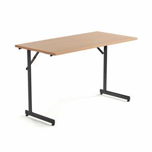 Skládací stůl Claire, 1200x600 mm, buk, černá