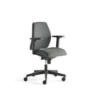 Kancelářská židle Lancaster, nízké opěradlo, antracitová