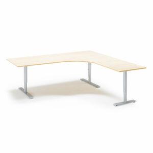 Výškově nastavitelný stůl Adeptus 200 x 200 cm, béžová