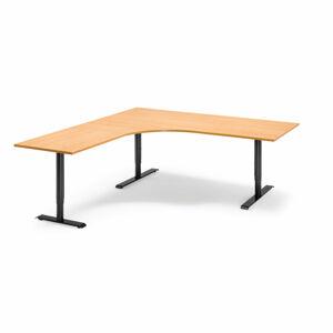 Výškově nastavitelný stůl Adeptus 200 x 180 cm, světle hnědá