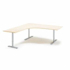Výškově nastavitelný stůl Adeptus 200 x 180 cm, béžová