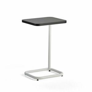 Stolek na notebook Standby, 425x350x647 mm, bílý, černá deska