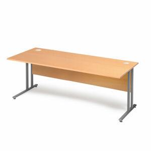 Kancelářský stůl Flexus 180 x 80 cm, světle hnědá