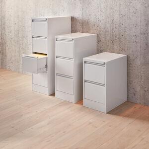 Kovová kartotéka Include, 4 zásuvky A4, 1320x415x630 mm, šedá