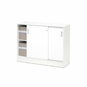 Skříňka Flexus s posuvnými dveřmi 92.5 x 41.5 x 120 cm, bílá, lamino