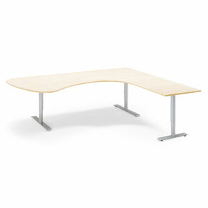 Rohový stůl Adeptus 220 x 200 cm, béžová