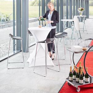 Skládací barový stůl Nina, ? 700 mm, galvanizovaná, bílá