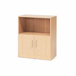Kancelářská skříň Flexus, 925x760x415 mm, dveře + 1 otevřená police, buk