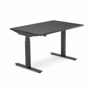 Výškově nastavitelný stůl Modulus, 1200x800 mm, černý rám, černá