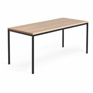 Psací stůl Modulus 4 nohy 180 x 80 cm, světle hnědá