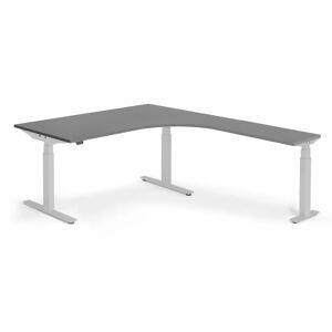 Výškově nastavitelný stůl Modulus rohový 160 x 200 cm, černá