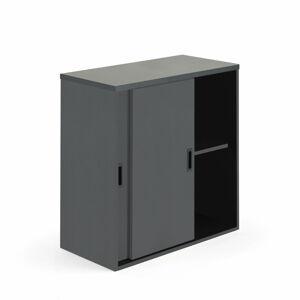 Skříň Modulus s posuvnými dveřmi 80 x 40 x 80 cm, černá, lamino