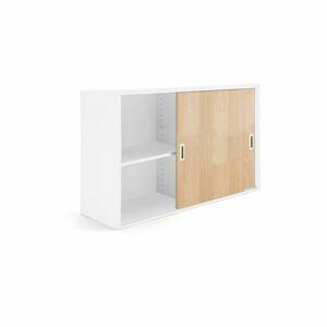 Skříň Modulus XL s posuvnými dveřmi 80 x 40 x 120 cm, bílá, lamino