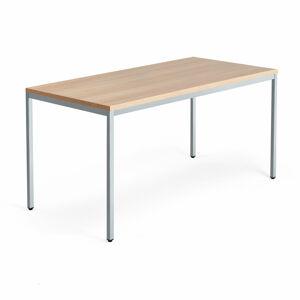 Stůl Modulus, 1600x800 mm, stříbrný rám, dub