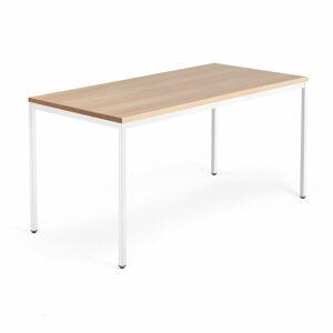 Stůl Modulus, 1600x800 mm, bílý rám, dub