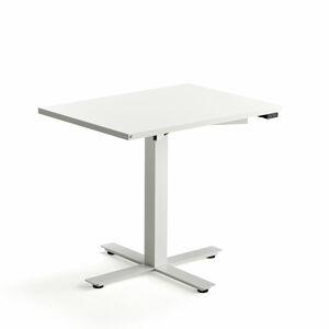 Psací stůl Modulus, 800x600 mm, bílý rám, bílá