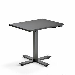 Psací stůl Modulus, 800x600 mm, černý rám, černá