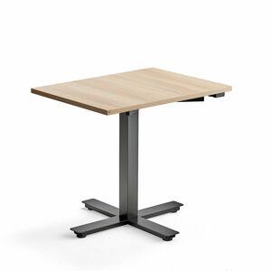 Psací stůl Modulus, 800x600 mm, černý rám, dub