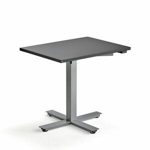 Psací stůl Modulus, 800x600 mm, stříbrný rám, černá