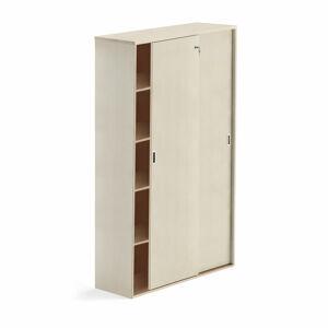 Skříň s posuvnými dveřmi Modulus XL, uzamykatelná, 2000x1200 mm, bříza