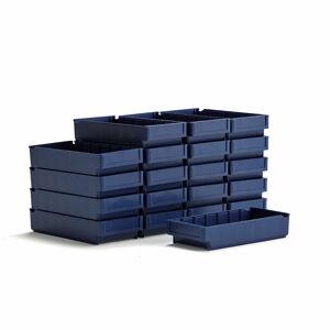 Plastový box Detail, 400x188x80 mm, modrý, bal. 20 ks