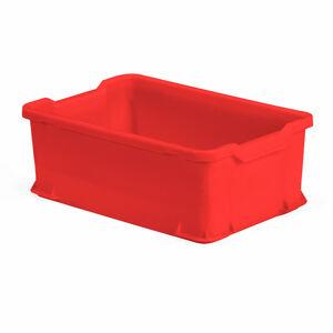 Plastová přepravka, 40 l, 600x400x225 mm, červená