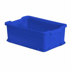 Plastová přepravka, 40 l, 600x400x225 mm, modrá