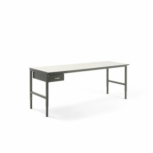 Pracovní stůl Cargo, 2400x750 mm, 1 zásuvka