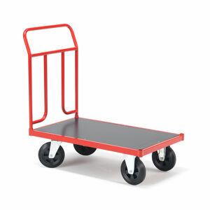 Plošinový vozík, 1000x600mm, gumová kola