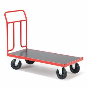 Plošinový vozík Track, 1250x700mm, gumová kola