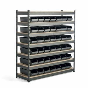 Regál Combo s 42 plastovými boxy