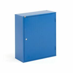 Kovová skříňka, 4 police, 800x660x275 mm, modrá