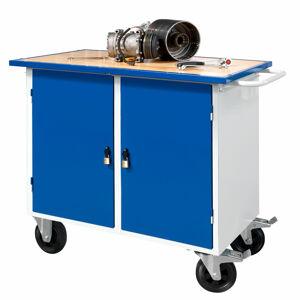Mobilní pracovní stůl, 2 skříňky, 900x595x1100 mm