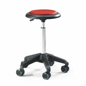 Pracovní stolička Diego, výška 450-580 mm, umělá kůže, červená