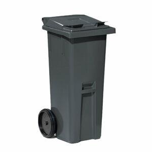 Plastová nádoba na odpad Classic, 140 l, šedá