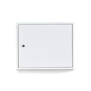 Kovová skříňka Sigma, 380x470x205 mm, bílá