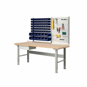 Dílenský stůl Robust, s boxy a panelem na nářadí, 2000x800 mm, tvrzená deska