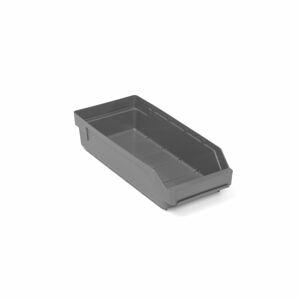 Skladová nádoba Reach, 400x180x95 mm, recyklovaný plast, šedá