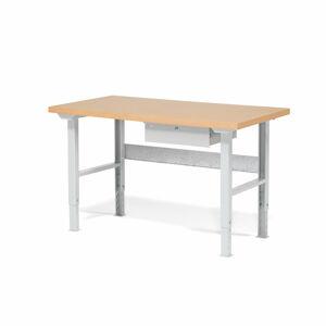 Dílenský stůl Robust, 1500x800 mm, 1 zásuvka