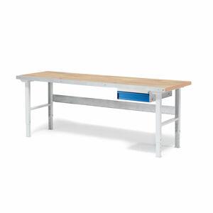 Dílenský stůl Solid 500, 2000x800 mm, 1 zásuvka, dubový povrch