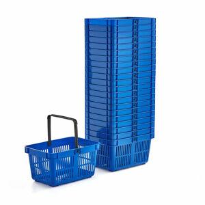 Nákupní košík, 27 l, modrý, bal. 22 ks