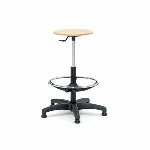 Průmyslová židle Warner, opěrný kruh, 530-780 mm