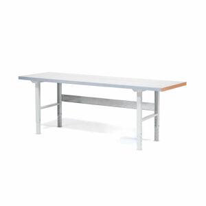 Dílenský stůl Solid 750, 2500x800 mm, ocelový povrch