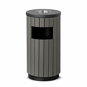 Venkovní odpadkový koš Murray, s popelníkem, 33 l, šedý